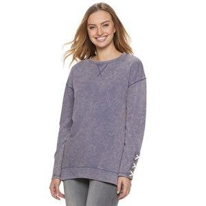 Rock & Republic Lace-Up Cuff Sweatshirt